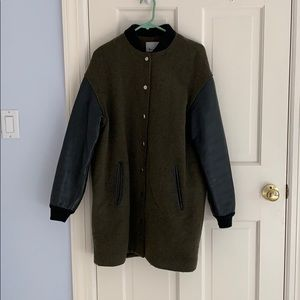 Alexander Wang Leather Varsity Jacket